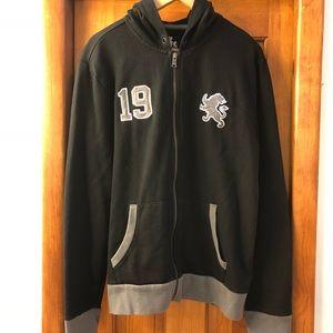 Express hooded zipper sweatshirt